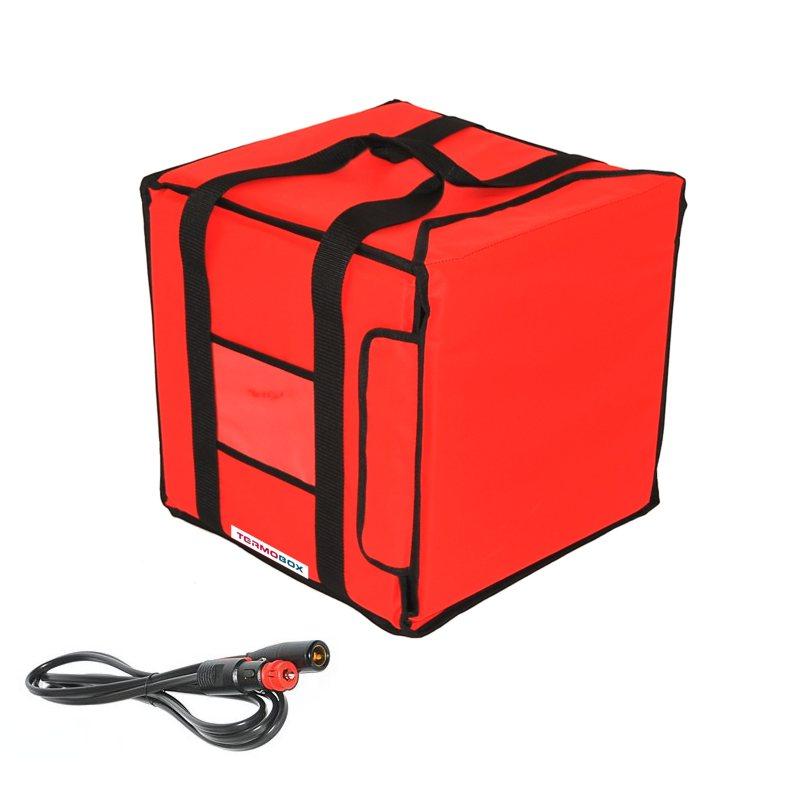 Pizza taškam 35x35x35 cm vyhřívaná červená