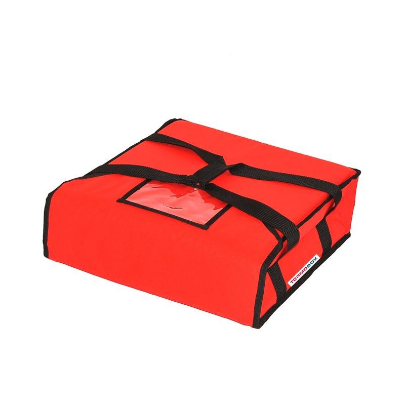 Pizza taška 40x40x12 cm nevyhřívaná červená