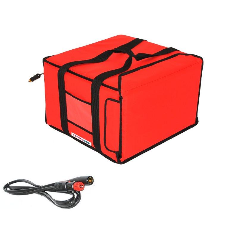 Pizza taška 40x40x25 cm vyhřívaná červená