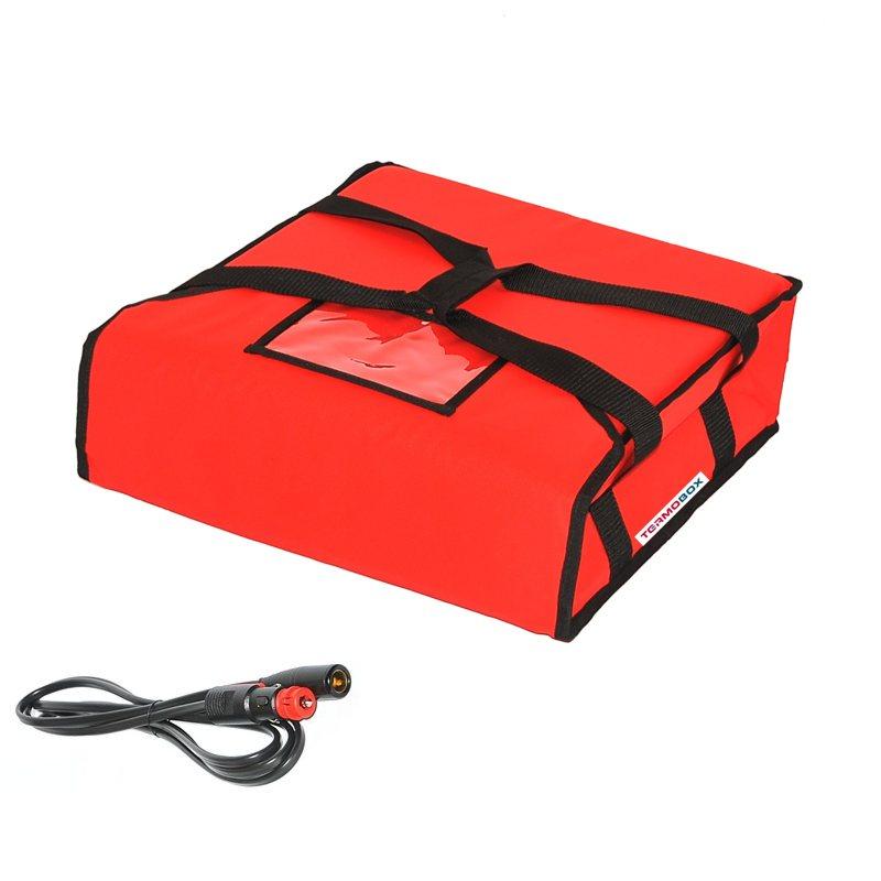 Pizza taška 45x45x12 cm vyhřívaná červená