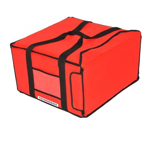 Pizza taška 45x45x25 cm nevyhřívaná červená