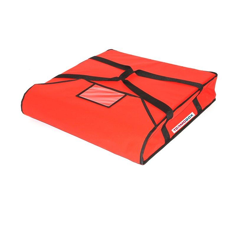 Pizza taška 50x50x12 cm nevyhřívaná červená