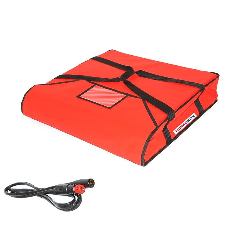 Pizza taška 50x50x12 cm vyhřívaná červená