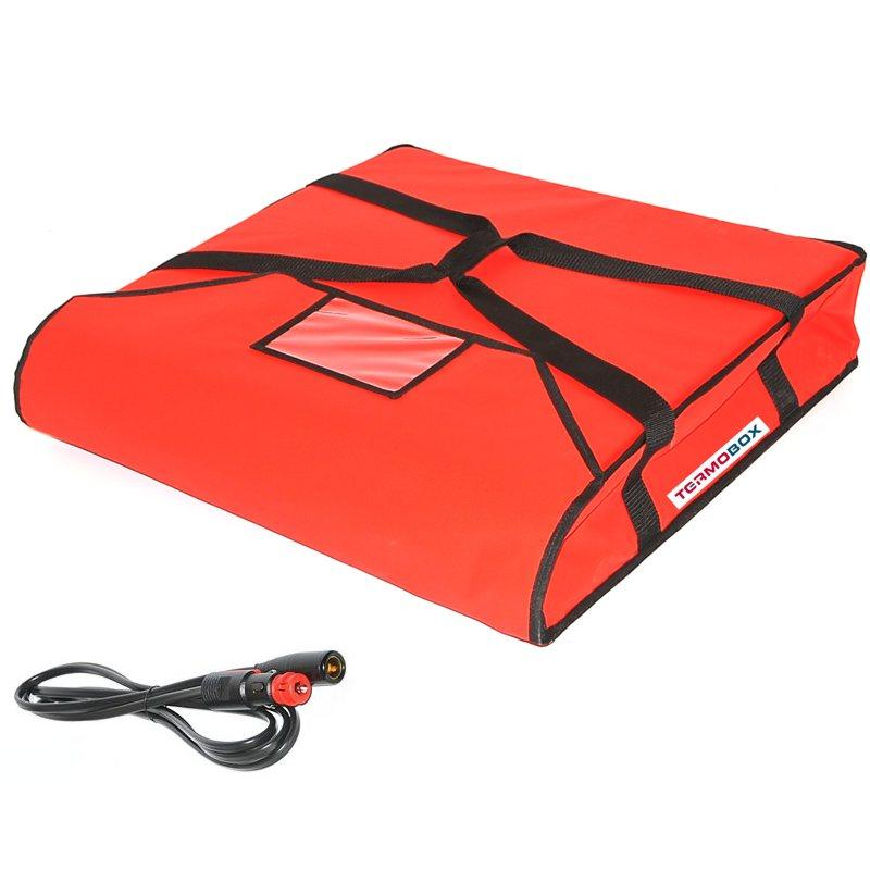 Pizza taška 60x60x12 cm vyhřívaná červená